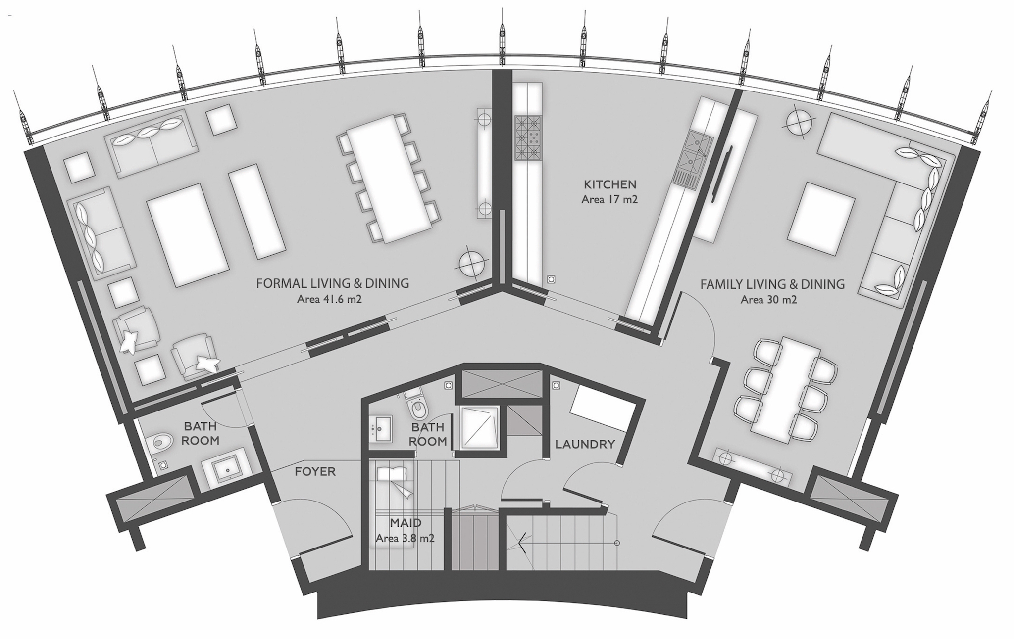 دوبلكس بأربع غرف نوم